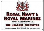 Royal Navy & Royal Marines recruitment enamelled steel sign