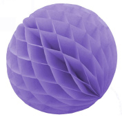 "SUNBEAUTY 3""(8cm) Pack of 5 Tissue Paper Lavender Colour Honeycomb Balls Wedding Decoration Birthday Baby Shower Bridal Shower"
