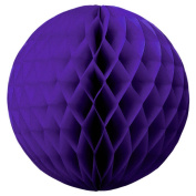 "SUNBEAUTY 3""(8cm) Pack of 20 Purple Tissue Paper Honeycomb Balls Wedding Decoration Birthday Baby Shower Bridal Shower"