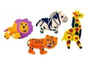 Movable Jungle Animal Eraser
