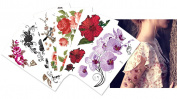 Supperb Mix Flower Temporary Tattoos Ii / 6-pack