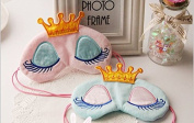 Cute Sleeping Beauty Cartoon Eye Mask & Blindfold for Kid's Sweet Dreams Blue