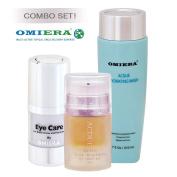 Dark Circles Under Eyes Treatment Illumizone (15ml) + Acne Scars Treatment, Acne Treatment, Acne Cream Acdue (30ml) + Facial Acne Cleanser (210ml) Skin Care by Omiera Labs