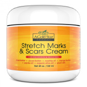 Best Stretch Marks and Scars Cream It Works Stretch Mark Cream for Stretch Mark Prevention Scar Removal for Old Stretch Marks - Acne Scar Removal Stretch Mark Cream Pregnancy - A Gold Star Beauty 120ml