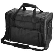 1200D Oxford Pro Black Soft Makeup Train Bag Case Pockets 17x9x12 Artist Cosmetic Organiser Box Travel Outdoor