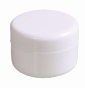 60ml New Empty High Quality White Plastic Jar with Dome Lid Cosmetic Containers 4 pk Mini Jar