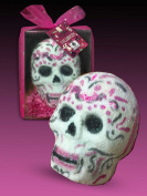"SpaGlo® ""Day of the Dead"" 3D Skull Head Bath Bomb Gift - Giant 300ml Size"