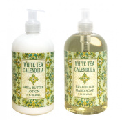 White Tea Calendula Shea Butter Hand & Body Lotion and White Tea Calendula Shea Butter Hand Soap Duo Set 470ml each by Greenwich Bay Trading Co.