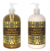 Almond Cocoa Butter Hand & Body Lotion and Almond Cocoa Butter Hand Soap Duo Set 470ml each by Greenwich Bay Trading Co.