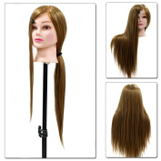 Neverland Beauty Professional 60cm Long 50% Real Human Hair Mannequin Training Head For College and Professional Use