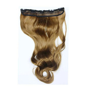 Mcoser Gorgeous Long Curly Clip-on Hair Extension Wigs Linen