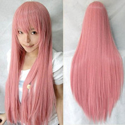 Ellena®Womens/Ladies 80cm Pink Colour Long STRAIGHT Cosplay/Costume/Anime/Party/Bangs Full Sexy Wig