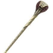 LiveZone Creative Alloy Crystal Hair Ornaments Decor Accessories Women Girls Snake Head Shape Hair Stick Pin Hairpin for Long Hair