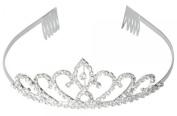 Flower Style Headband Comb Charming Rhinestone Wedding Bridal Party Birthday Tiaras