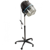 GHP Adjustable Stand Up Hood Rolling Base Salon Wheels Hair Bonnet Dryer