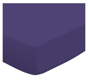SheetWorld Fitted Portable / Mini Crib Sheet - Purple Jersey Knit - Made In USA