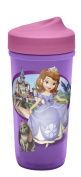Zak! Designs Toddlerific Perfect Flo Toddler Cup with Sofia the First, Double Wall Insulated Construction and Adjustable Flow Technology, Break-resistant and BPA-free Plastic, 260ml