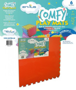 EnviUs Comfy Play Mat Rainbow 6 : Formamide Free Ultra Thick 6 Pieces 60cm x 60cm x 1.4cm