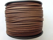 Faux Suede Leather Smooth Surface Cord 3mm x 1mm 100yds per roll