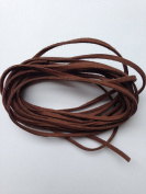 Medium Brown Faux Suede Leather Cord 3mm x 1.5mm 5yds Bundle DIY