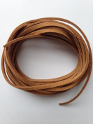 Light Brown Faux Suede Leather Cord 3mm x 1.5mm 5yds Bundle DIY