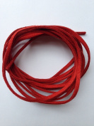 Red Faux Suede Leather Cord 3mm x 1.5mm 5yds Bundle DIY
