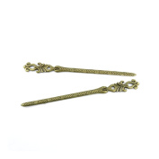 Price per 30 Pieces Antique Bronze Jewellery Making Charms Findings Supplies 08977 Hairpin Head Pins Craft Ancient Repair Lots DIY Pendant Vintage