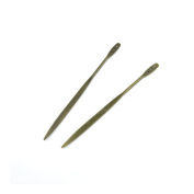 Price per 5 Pieces Antique Bronze Jewellery Making Charms Findings Supplies 09248 Hairpin Head Pins Craft Ancient Repair Lots DIY Pendant Vintage