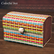 Julyshop Mini Lovely Ring Earrings Display Bamboo Wooden Case Jewellery Storage Box