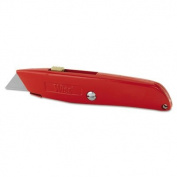 Retractable Utility Knife, Carded, Sold as 1 Each