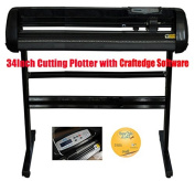 Vinyl 90cm 500g Cutting Plotter Black Colour with Craftedge Software for T-shirt Heat Transfer Media