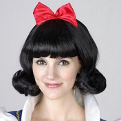 Black Anime Festival Cosplay Hair for Show Party Cosers Wig Bangs Piece Snow White Bow Curls for Lady