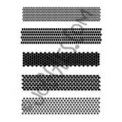 Joggles Stencil 23cm x 30cm -Punchinella Quintet - Minis