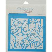 Rebecca Baer Stencil 20cm x 20cm -Alphabet Soup