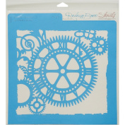 Rebecca Baer Stencil 30cm x 30cm -Steampunk Clockface