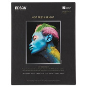 Hot Press Bright Fine Art Paper, 8-1/2 x 11, Bright White, 25 Sheets, Sold as 1 Each