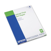 Velvet Fine Art Paper, 8-1/2 x 11, White, 20 Sheets/Pack, Sold as 20 Sheet