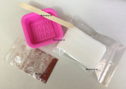 Make Your Own DIY Pink Handmade Soap Making Mould, Pre-made Melt and Pour White Shea Butter Bar Sample Base, 1 Gramme Brick Red Pigment Powder