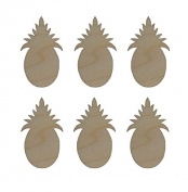 Pineapple Shape Unfinished Wood Cut Outs 6.4cm Inch 6 Pieces PINE-06