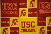 NCAA University of USC Trojens Team Licenced Block Cotton Fabric