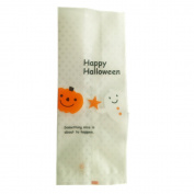 Yunko 25pcs Halloween Lovely Cute OPP Cookie Bakery Candy Biscuit Treat Gift Diy Plastic Bag with Sticker