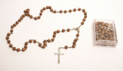 Brown Rosaries & Cross From Holy Land Jerusalem