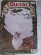 Doves and Holly Embroidery Tablecloth Kit