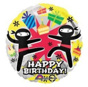 Anagram International Hx Ninja Birthday Balloon, Multicolor