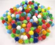 144pcs 10mm Glitter Pompom Confetti Craft DIY