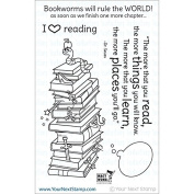 Your Next Stamp Clear Stamps 10cm x 15cm -Bookworms Rule