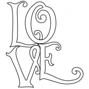 Gourmet Rubber Stamps Cling Stamps 8.3cm x 12cm -Love