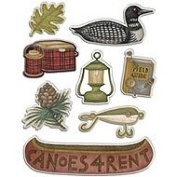 American Traditional Design Dome Stickers Great Outdoors Gems- Earthtones