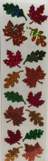 Fall Leaves Halloween Stickers - 2 Sheets