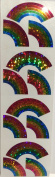 Glitter Rainbow Stickers - 2 Sheets